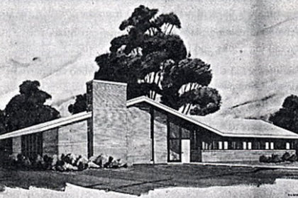 Artistic rendition of old CSH building